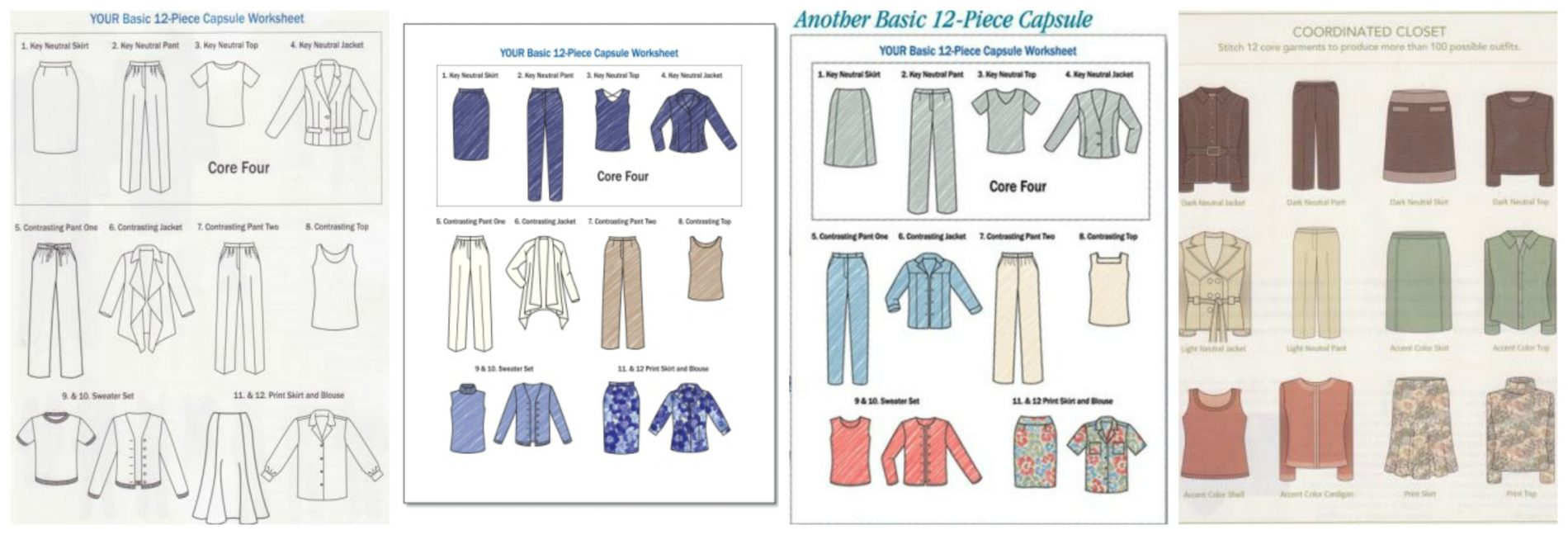 Components for sewing your 12 piece wardrobe nancy nix rice capsule charts nvjuhfo Image collections