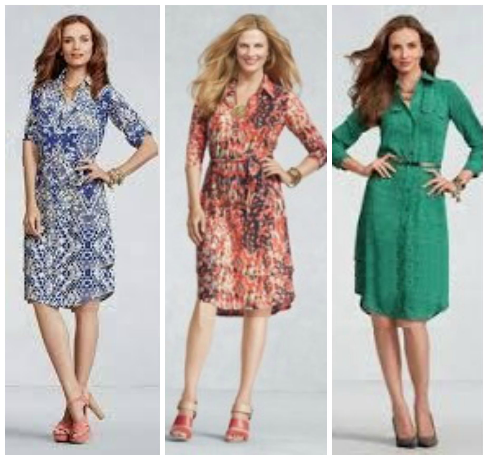 3 Dress Collage Shape Your Best Shirtdress